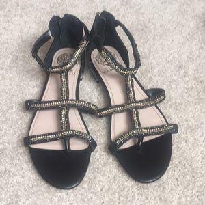Vince Camuto beaded embellished gladiator sandals